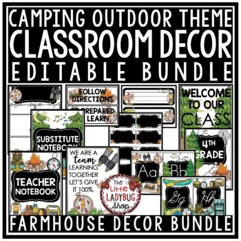 Camp Theme Classroom Decor  • Camping Theme