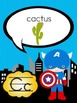 Superhero Theme ABC Cards Posters