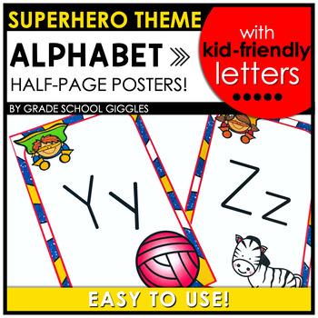 Superhero Theme Alphabet