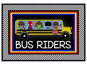 Superhero Theme Transportaion Chart in Black