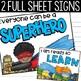 Superhero Theme Behavior Chart - Superhero Theme Classroom Decor