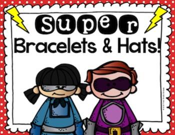 Superhero Theme Bracelets & Hats