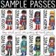 Superhero Theme Hall Passes - Superhero Theme Classroom Decor