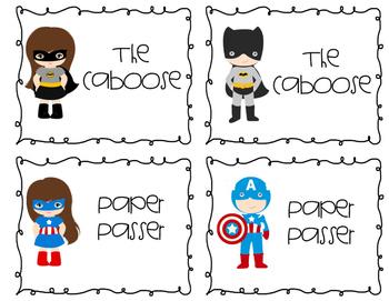 Superhero Theme Job Chart