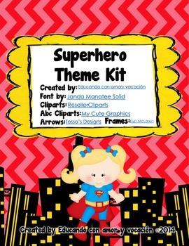 Superhero Theme Kit (SPANISH)
