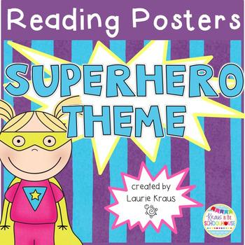 Superhero Theme Reading Comprehension Posters