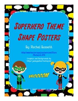 Superhero Theme Shape Posters