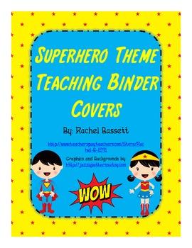 Superhero Theme Teaching Binder Covers