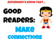 Superhero Theme Traits of a Good Reader Mini Posters