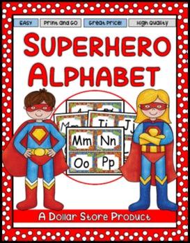 Superhero Theme Word Wall Alphabet