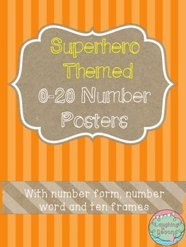Superhero Themed 0-20 Numbers Posters