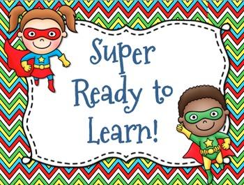Superhero Themed Behavior Chart *Mini Pennant Banner Chart
