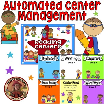 Superhero Themed Daily Automated Centers and Guided Readin