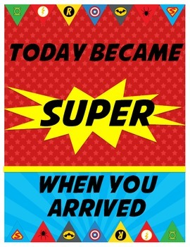 Superhero Themed Inspirational Poster