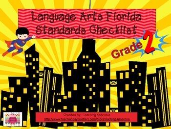 Superhero Themed Language Arts FL Standards Checklist Seco