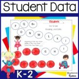 Superhero Themed Student Data Binders