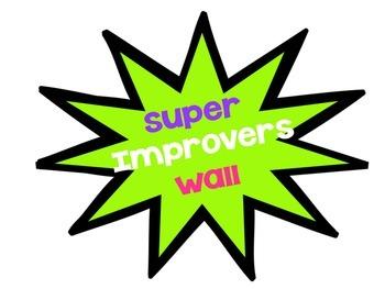 Superhero-Themed Whole Brain Teaching Super Improvers Wall