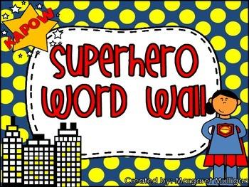 Superhero Themed Word Wall/Alphabet