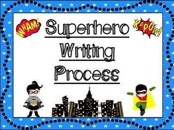 Superhero Themed Writing Process Posters