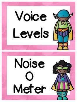 Superhero Voice Level posters