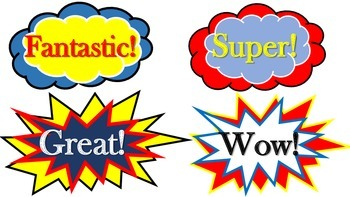 Superhero Word Art
