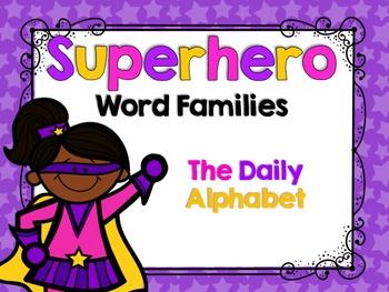 Superhero Word Families