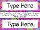 EDITABLE Superhero Word Name Plates