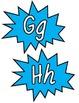 Superhero Word Wall Headers~Aqua
