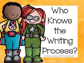 Superhero Writing Process posters