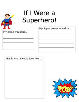 Superhero Writing Prompt