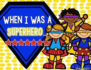 Superhero Writing Prompts Booklet