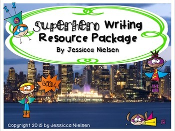 Superhero Writing Resource Package