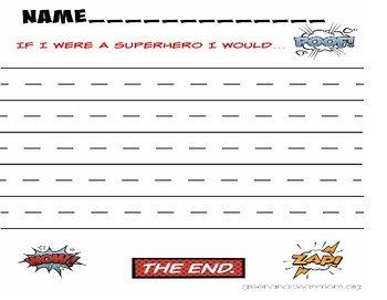 Superhero Writing – Simple Paragraphs and Writing to a Pro