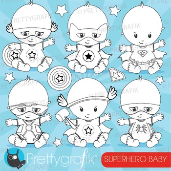 Superhero baby stamps commercial use, vector graphics, ima