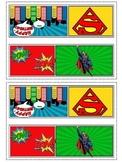 Superhero bag labels