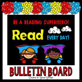 Superhero bulletin board