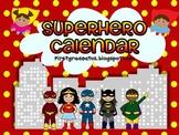 Superhero calendar