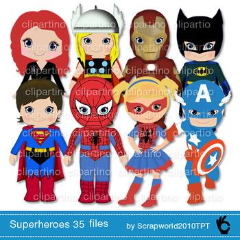 35 files!!! Superhero clip art, superboy, supergirl,Mega s