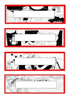 Superhero / graphic comic themed classroom labels
