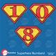 Superhero Clipart , Numbers Clipart, Superhero Numbers Cli