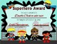 Superhero of the Week Certificate **EDITABLE