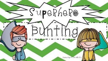 Superhero theme bunting (primary colors)