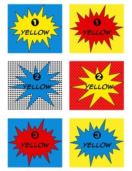 Superhero themed IRLA Book Labels