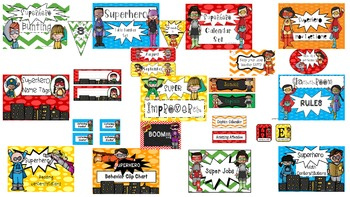 Superhero themed classroom set (bundle)