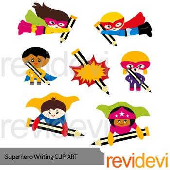 Superhero writing clip art