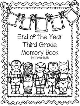 Third Grade Memory Book (Superheroes)