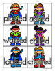 Superheroes: 3 Sounds of -ed Card Sort and Worksheet (Suff
