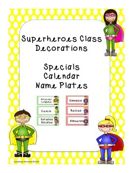 Superheroes Classroom Decorations