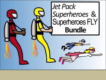 Superheroes FLY and Jet Pack Superheroes Bundle!