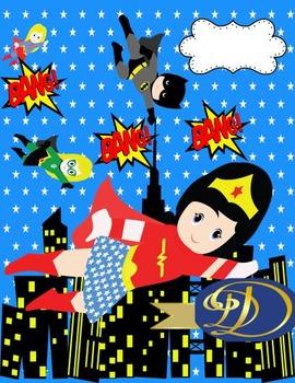 Superheroes & Friends  Night Adventures Binder Covers 10 PK